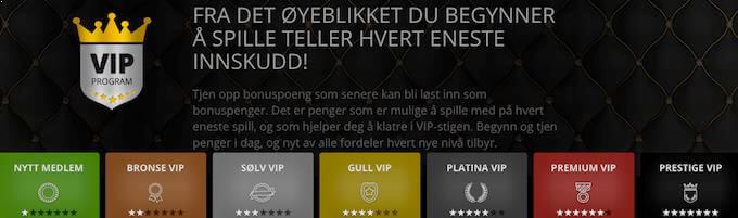 Goliath Casino VIP-program