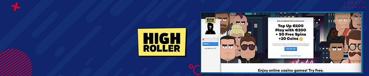 Highroller casino forside