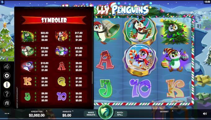 Holly Jolly Penguins symboler