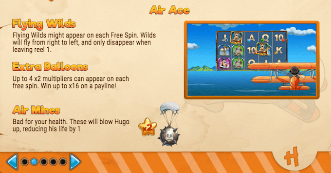 Hugo's Adventure free spins