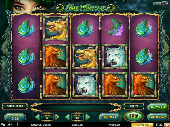Spilleautomaten Jade Magician hovedspillet