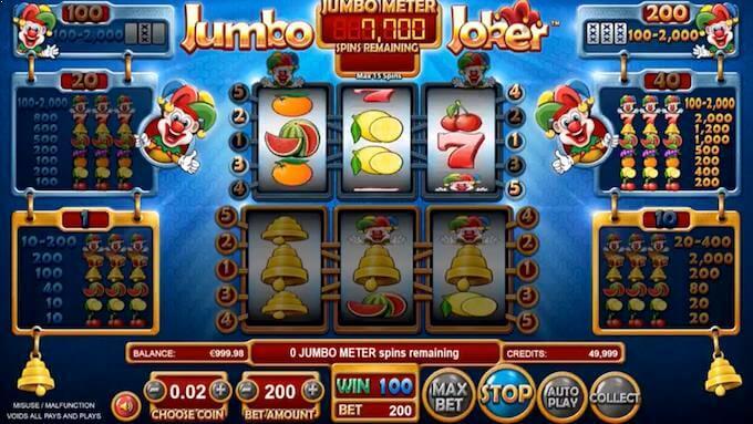 Jumbo Meter på spilleautomaten Jumbo Joker