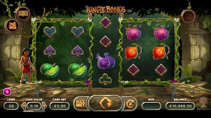 Hovedspillet på spilleautomaten Jungle Books