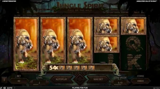 Butterfly Boost-funksjonen på spilleautomaten Jungle Spirit: Call of the Wild