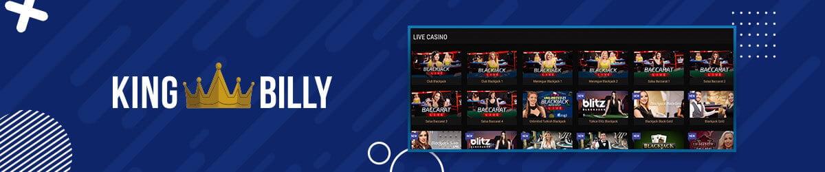 King Billy Casino med Live Casino
