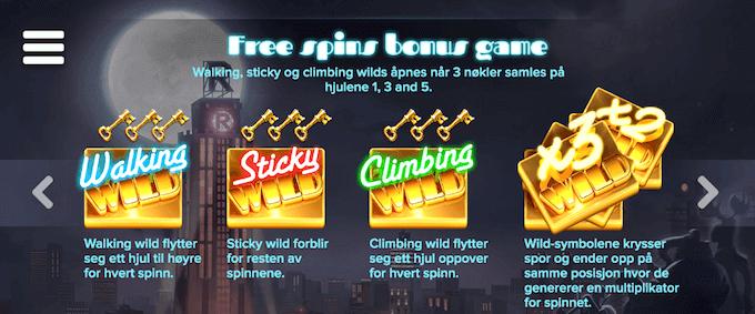 Lake's Five free spins-funksjoner