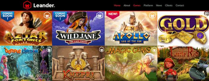 Leander Games spilleautomater