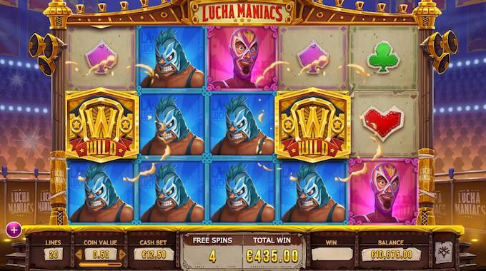 Lucha Maniacs free spins