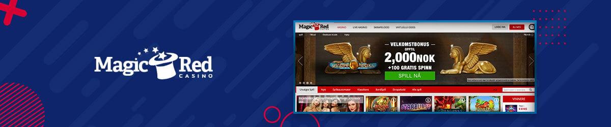 MagicRed Casino forside