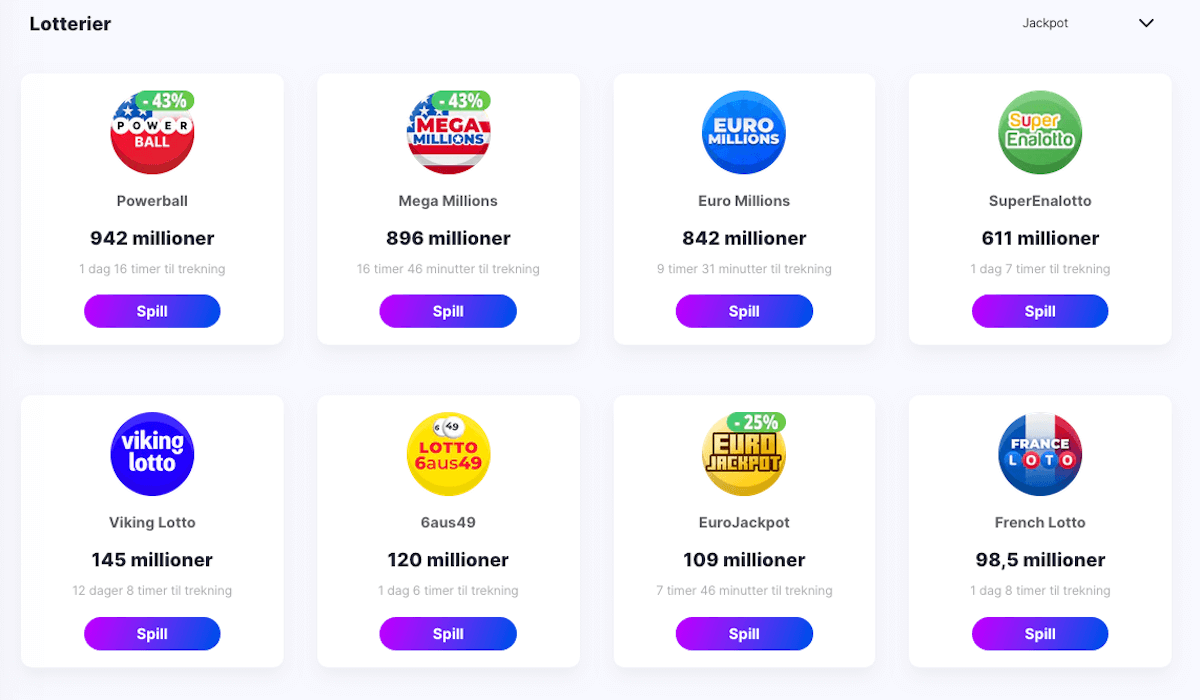 MegaRush lotterier