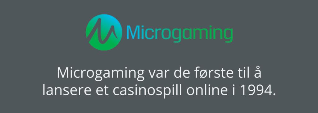 Microgaming lanserte det første casinospillet online i 1994