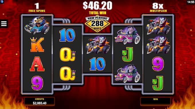 Monster Wheels free spins med 8x-multiplikator