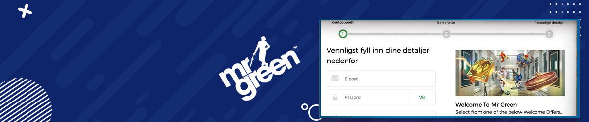 Mr Green registrering