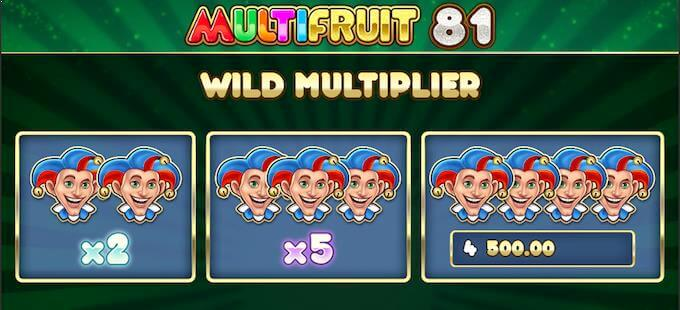 Spilleautomaten Multifruit 81 har jokerwilds