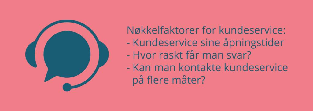 Nøkkelfaktorer for kundeservice