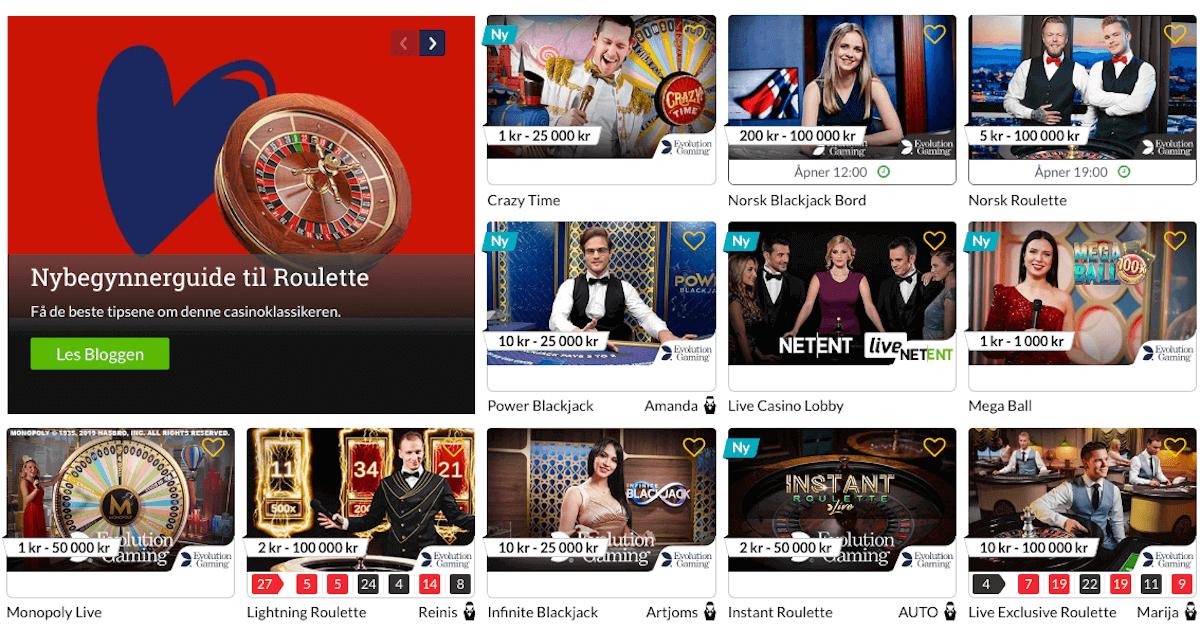 NorgesAutomaten - Live Casino
