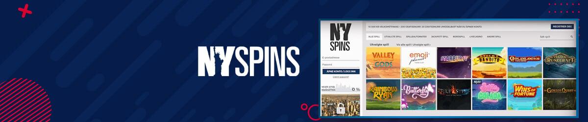 NYSpins casinoforside