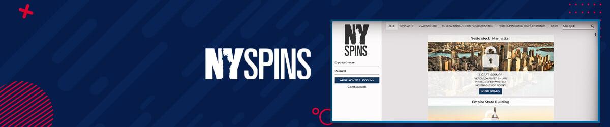 NYSpins belønninger som kan låses opp med poeng