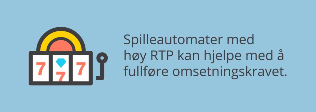 Omsetningskrav og spilleautomater med høy RTP