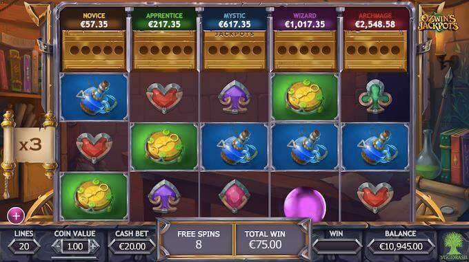 Ozwin's Jackpots free spins