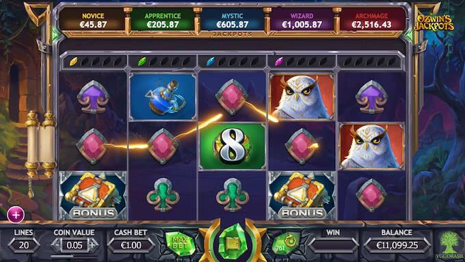 Ozwin's Jackpots hovedspill