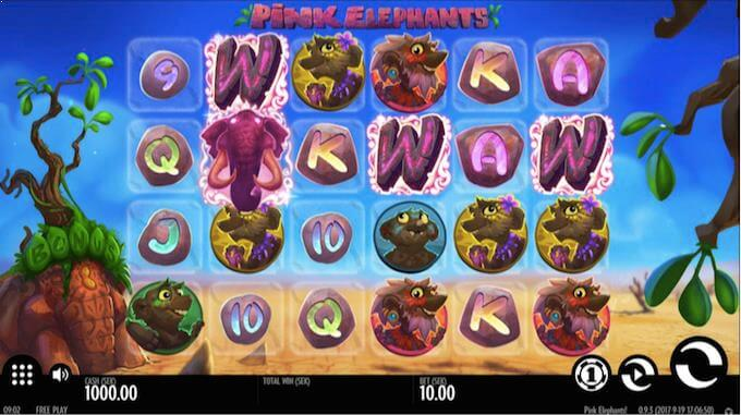 Spilleautomaten Pink Elephants hovedspill