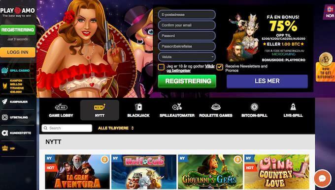PlayAmo casinoforside