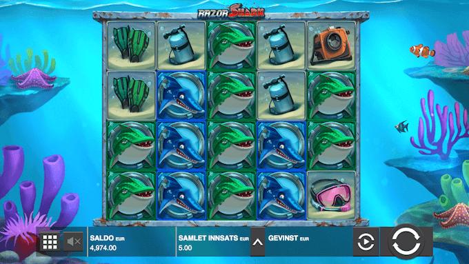 Razor Shark hovedspill