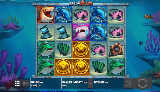 Razor Shark - Razor-funksjon