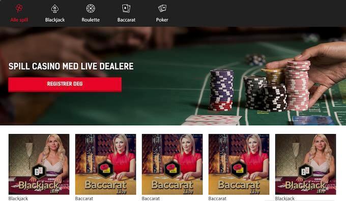 Redbet live casino