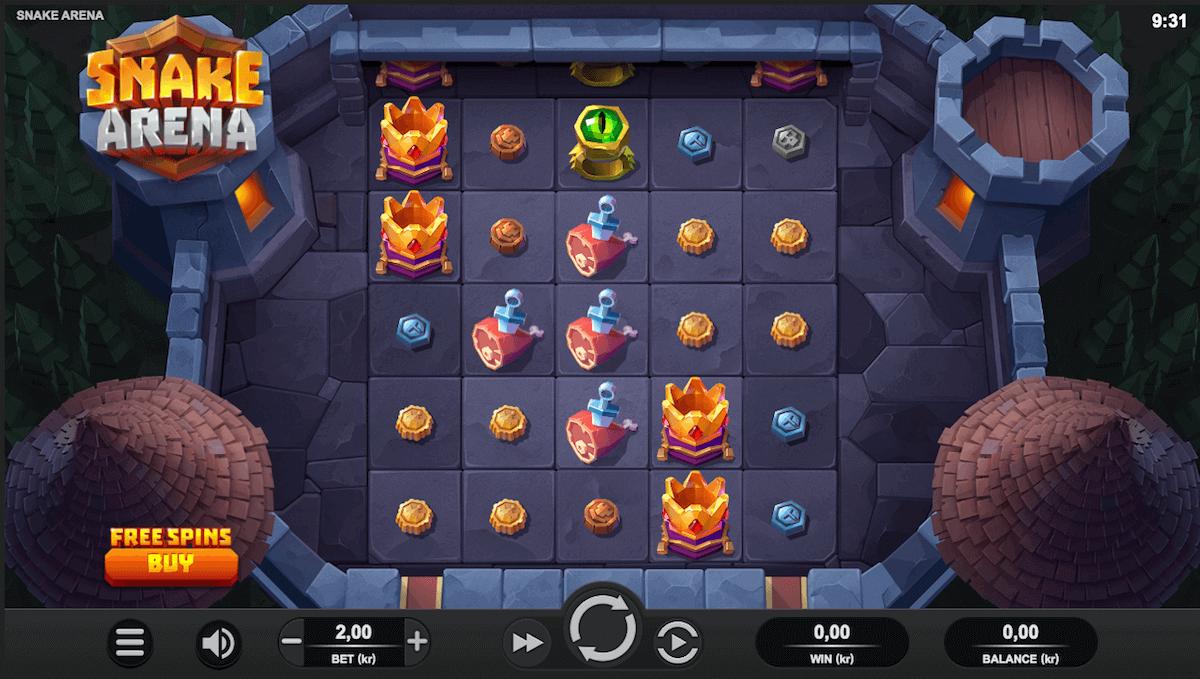 Spilleautomaten Snake Arena av spillutvikleren Relax Gaming
