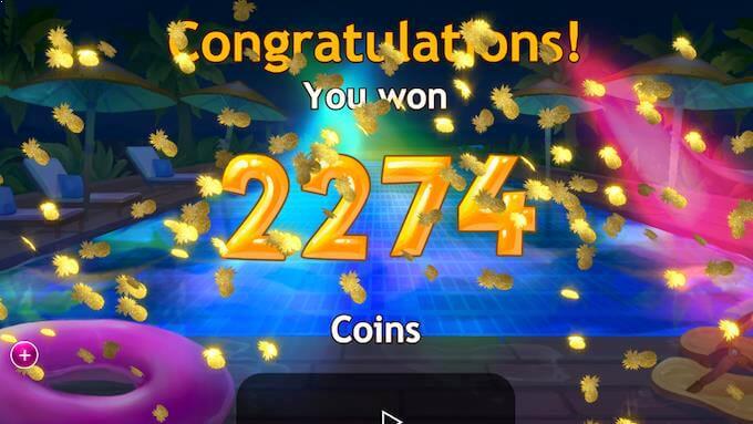 Storgevinst vunnet på spilleautomaten Spiña Colada
