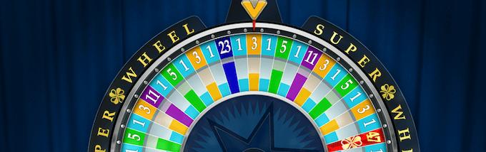 Super Wheel lykkehjulet kan gi opptil 47 ganger innsatsen
