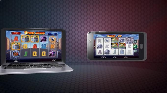 Spilleautomaten The Heat is On på mobil og nettbrett