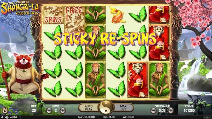 The Legend of Shangri-La sticky re-spins