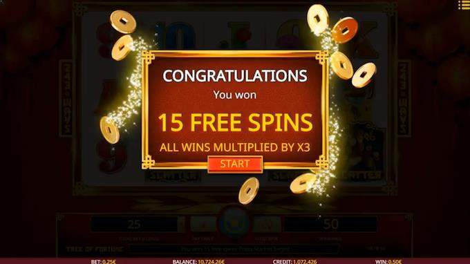 Tree of Fortune free spins