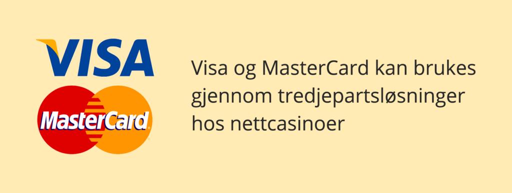 Visa og MasterCard hos nettcasinoer