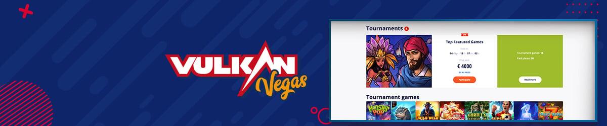 Vulkan Vegas-casinoturneringer
