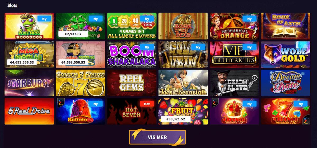 Wildblaster spilleautomater