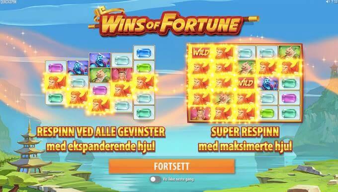 Re-spin på Wins of Fortune