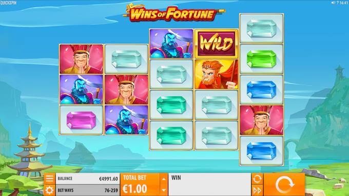 Wins of Fortune spillvisning